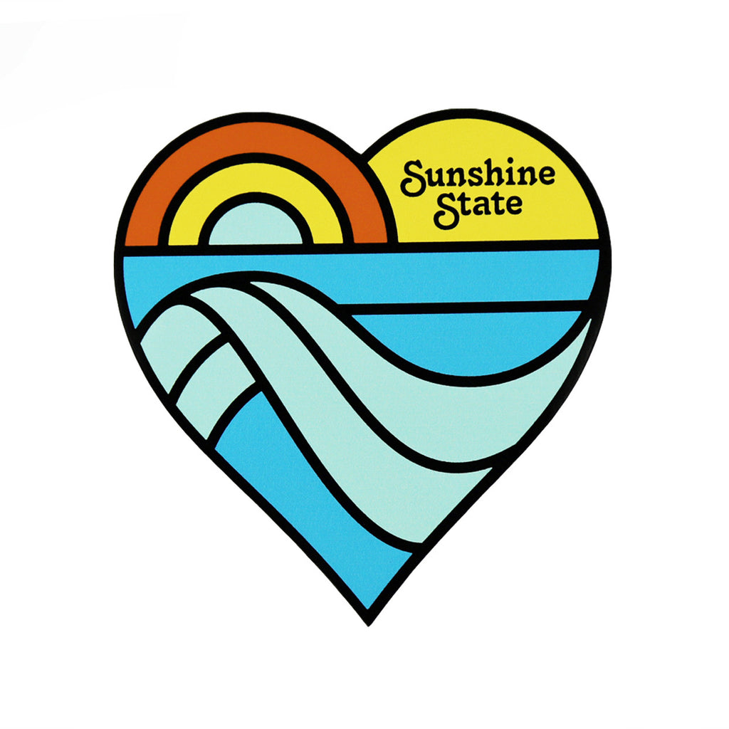 SUNSHINE STATE HEART STICKER - Sunshine State® Goods
