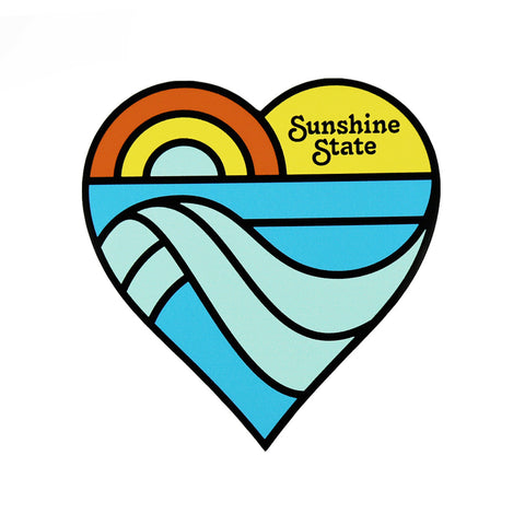 SUNSHINE STATE HEART STICKER