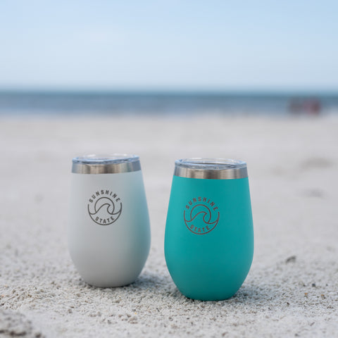 SUNSHINE STATE STAINLESS INSULATED WINE GLASS - Sunshine State® Goods