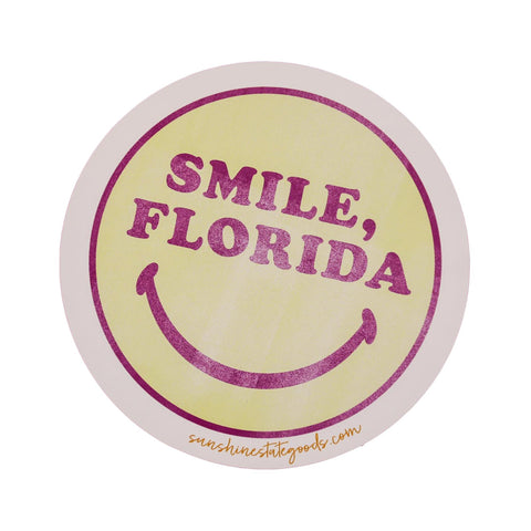 SMILE, FLORIDA STICKER - Sunshine State® Goods