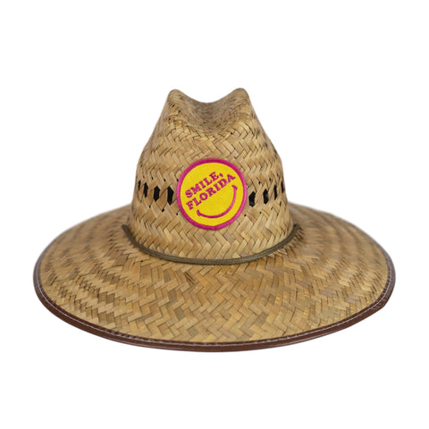 YOUTH LIFEGUARD STRAW HAT - SMILE, FLORIDA - Sunshine State® Goods
