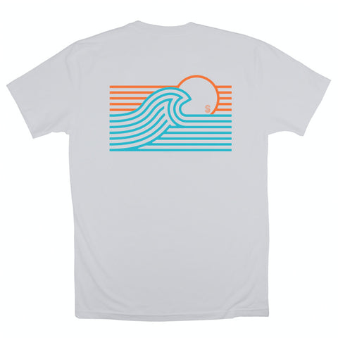 SUNRISE SHORT SLEEVE TEE - WHITE