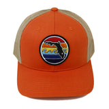 FLORIDA SUNSET YUPOONG TRUCKER HAT - ORANGE - Sunshine State® Goods