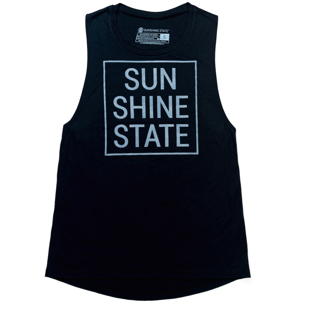 SUNSHINE STATE® MUSCLE TANK - BLACK - Sunshine State® Goods