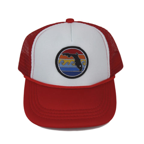 BABY FLORIDA SUNSET TRUCKER - RED - Sunshine State® Goods
