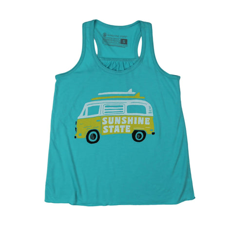 VAN LIFE YOUTH FLOWY TANK - TEAL - Sunshine State® Goods