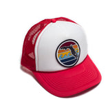 YOUTH FLORIDA SUNSET TRUCKER - RED - Sunshine State® Goods