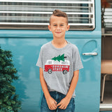 HOLIDAY ROAD YOUTH TEE - HEATHER GREY