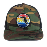 FLORIDA SUNSET YUPOONG TRUCKER HAT - CAMO - Sunshine State® Goods