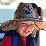 YOUTH LIFEGUARD STRAW HAT - FLORIDA SUNSET