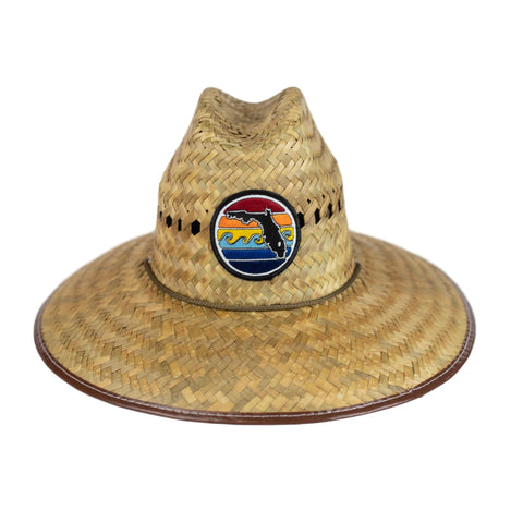 YOUTH LIFEGUARD STRAW HAT - FLORIDA SUNSET - Sunshine State® Goods