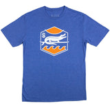 SURF GATOR SUNSET TEE - VINTAGE ROYAL - Sunshine State® Goods