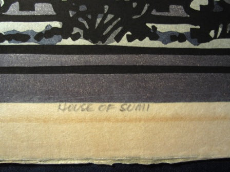 Huge Orig Japanese Woodblock Print PENCIL Sign Limit# Clifton Karhu House of Sumi