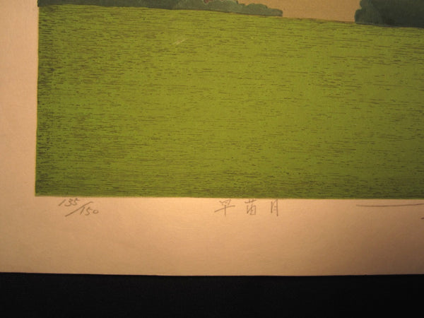 Huge Orig Japanese Woodblock Print Seiji Sano Month of Early Sprout