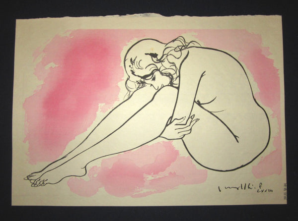 Five Original Japanese Woodblock Print Set Nude Women LIMIT Edition Furusawa Iwami