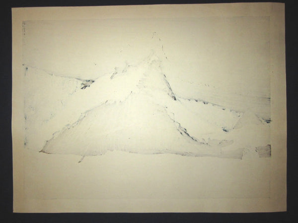 Huge Orig Japanese Woodblock Print PENCIL Sign Limit# Joshua Rome Tsukiakari