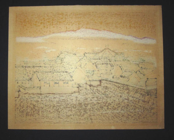 Huge Orig Japanese woodblock Print LIMIT# PENCIL Hashimoto Okiie