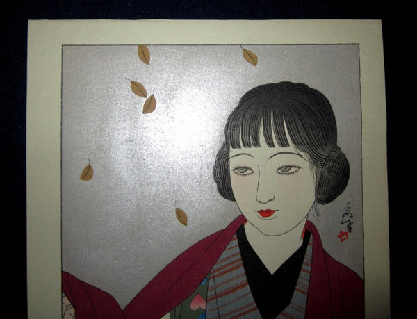 Original Japanese Woodblock Print Shudo Yamakawa Autumn New Japan Ten Sceneries