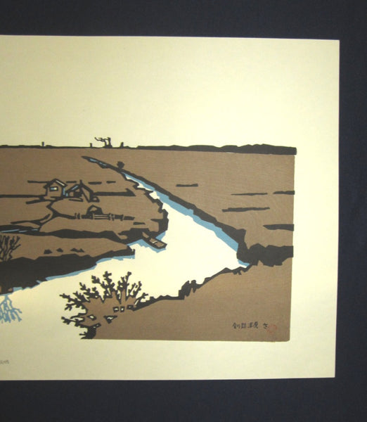 Huge Orig Japanese Woodblock Print LIMIT# Miyata Saburo Kushiro Shitsugen National Park