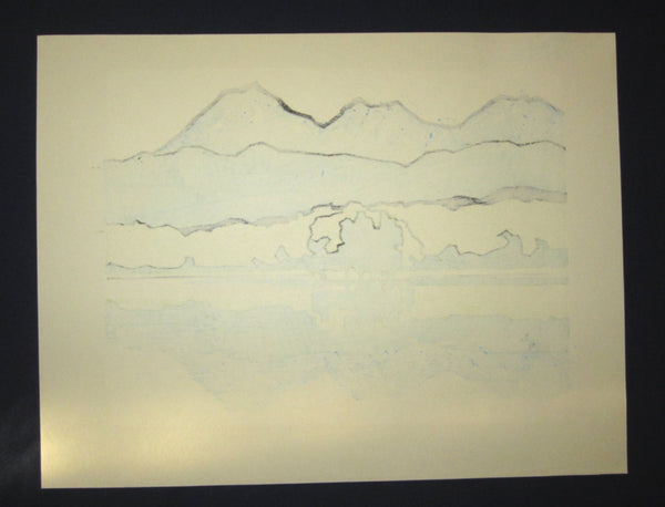 Orig Japanese Woodblock Print LIMIT# Miyata Saburo Shiretoko Five Lake
