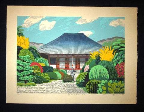 "This is a HUGE very beautiful, and special LIMITED-NUMBER (13/120) ORIGINAL Japanese Shin Hanga woodblock print ""Nara New Green"" PENCIL SIGNED by the famous Japanese Shin Hanga woodblock print Master Hayashi Waichi (1951 -) made in 1982 IN EXCELLENT CONDITION."
