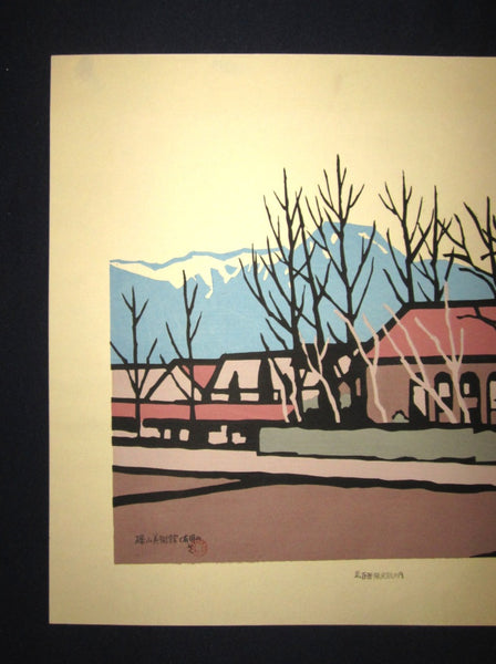 Huge Orig Japanese Woodblock Print LIMIT# Miyata Saburo Shinshu Nagano Prefecture Twenty Sceneries (3)