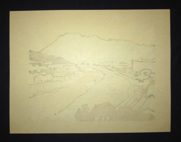 Huge Orig Japanese Woodblock Print LIMIT# Miyata Saburo Shinshu Nagano Prefecture Twenty Sceneries (8)