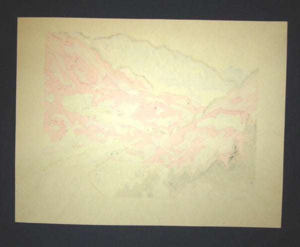 Huge Orig Japanese Woodblock Print LIMIT# Miyata Saburo Shinshu Nagano Prefecture Twenty Sceneries (13)