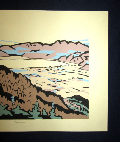 Huge Orig Japanese Woodblock Print LIMIT# Miyata Saburo Shinshu Nagano Prefecture Twenty Sceneries (1)
