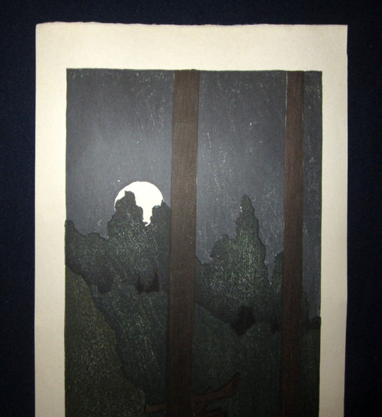 A Huge Orig Japanese Woodblock Print PENCIL Sign Limit# Joshua Rome Yoroka 1988