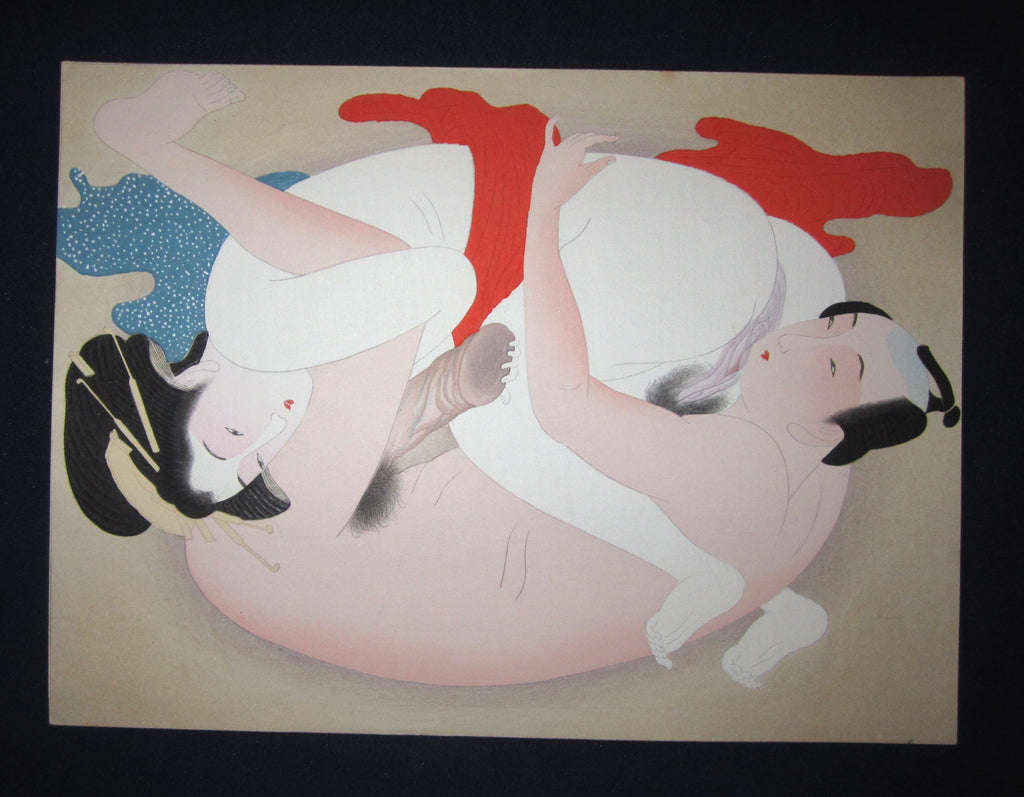 "This is a very beautiful and special original Japanese Erotic woodblock print ""Shunga"" made in Taisho Era (1915-1927) IN EXCELLENT CONDITION."