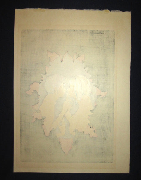 A Great Large Orig Japanese Woodblock Print PENCIL Sign Limit# Masakane Yonekura Friiling's Erwachen 1979