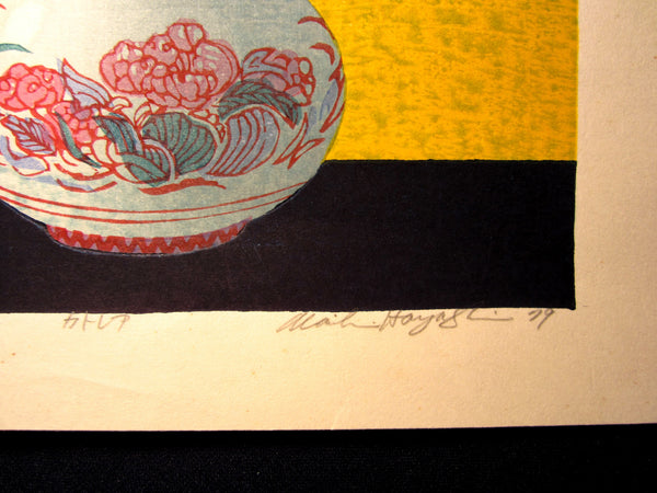 Original Japanese Woodblock Print LIMIT# PENCIL SIGN Hayashi Waichi Flower