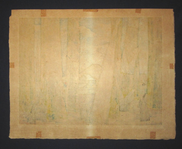 A Great EXTRA LARGE Orig Japanese Woodblock Print PENCIL Sign Limit# Clifton Karhu Nagaoka Kyoto