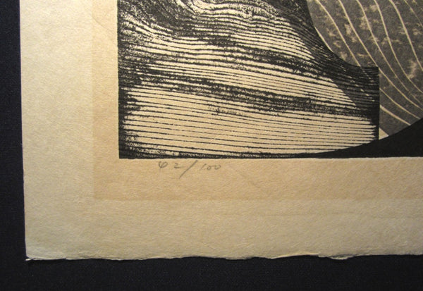 A Huge Orig Japanese Woodblock Print Limit# PENCIL Reika Iwami Water Dream Appointment D