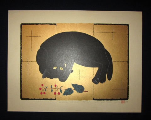 "This is a very beautiful, rare and EXTRA LARGE LIMITED-Number (21/100) ORIGINAL Japanese Shin Hanga woodblock print ""Wake - UP(2) B"" PENCIL SIGNED by the famous Showa Shin Hanga woodblock print master Tadashige Nishida (1942 -) made in 2000."
