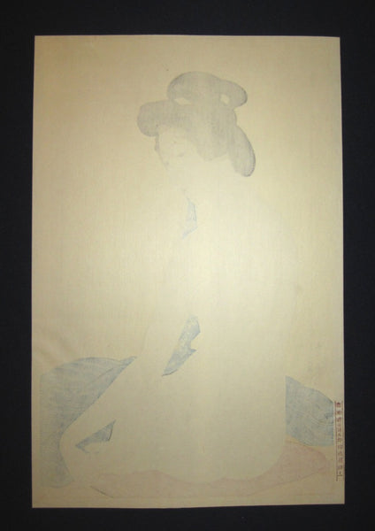 A Japanese Woodblock Print Hashiguchi Goyo Nude Woman after Bath