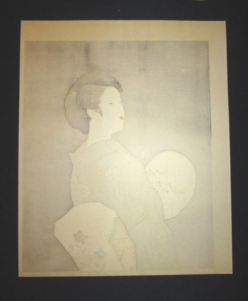 Great Huge Original Japanese Woodblock Print Ito Shinsui Bijin-ga Firefly