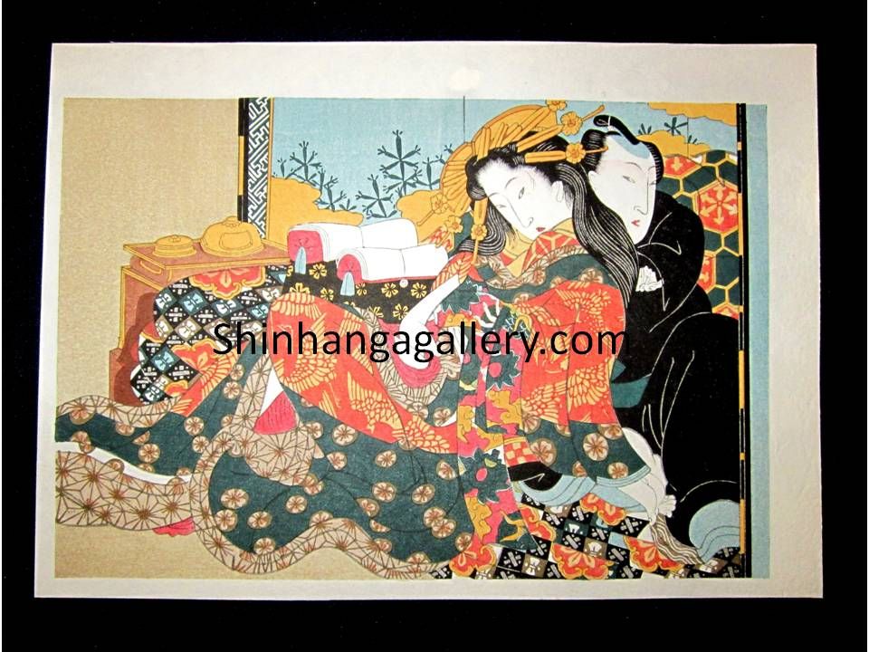 Japanese Erotic Shunga woodblock print