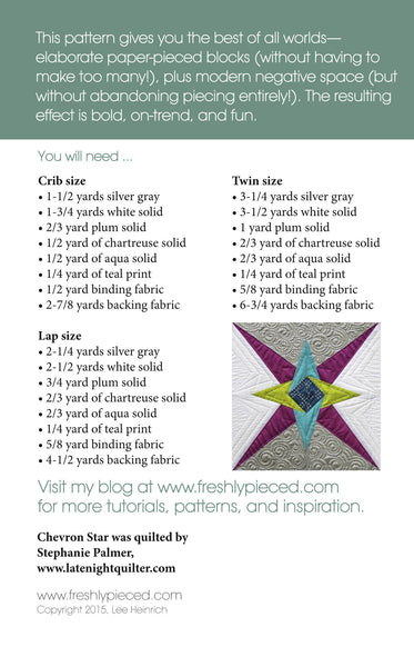 Chevron Star PDF Pattern - Freshly Pieced Quilt Patterns - 2