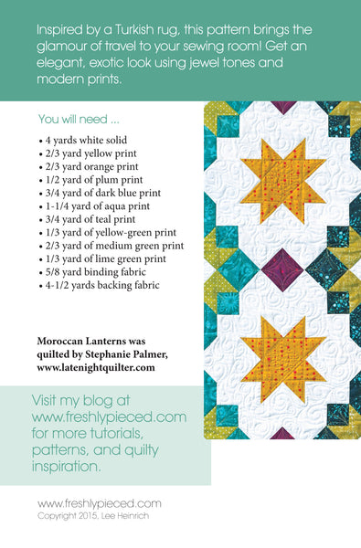 Moroccan Lanterns PDF Pattern - Freshly Pieced Quilt Patterns - 2