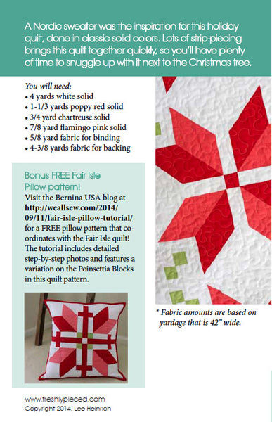 Fair Isle PDF Pattern - Freshly Pieced Quilt Patterns - 2