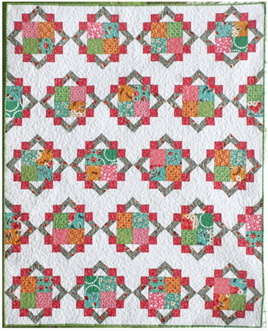 Cathedral Square PDF Pattern - Freshly Pieced Quilt Patterns - 1