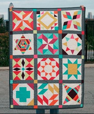 Summer Sampler Series (2011) PDF Pattern - Freshly Pieced Quilt Patterns - 1