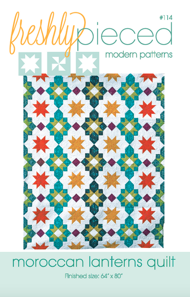 Moroccan Lanterns PDF Pattern - Freshly Pieced Quilt Patterns - 3