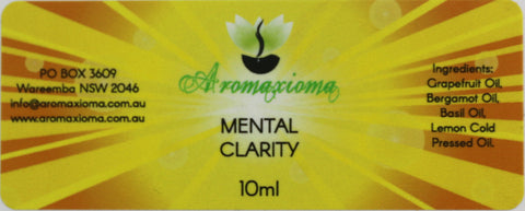 Mental Clarity Essential Oil Blend - aromaxioma