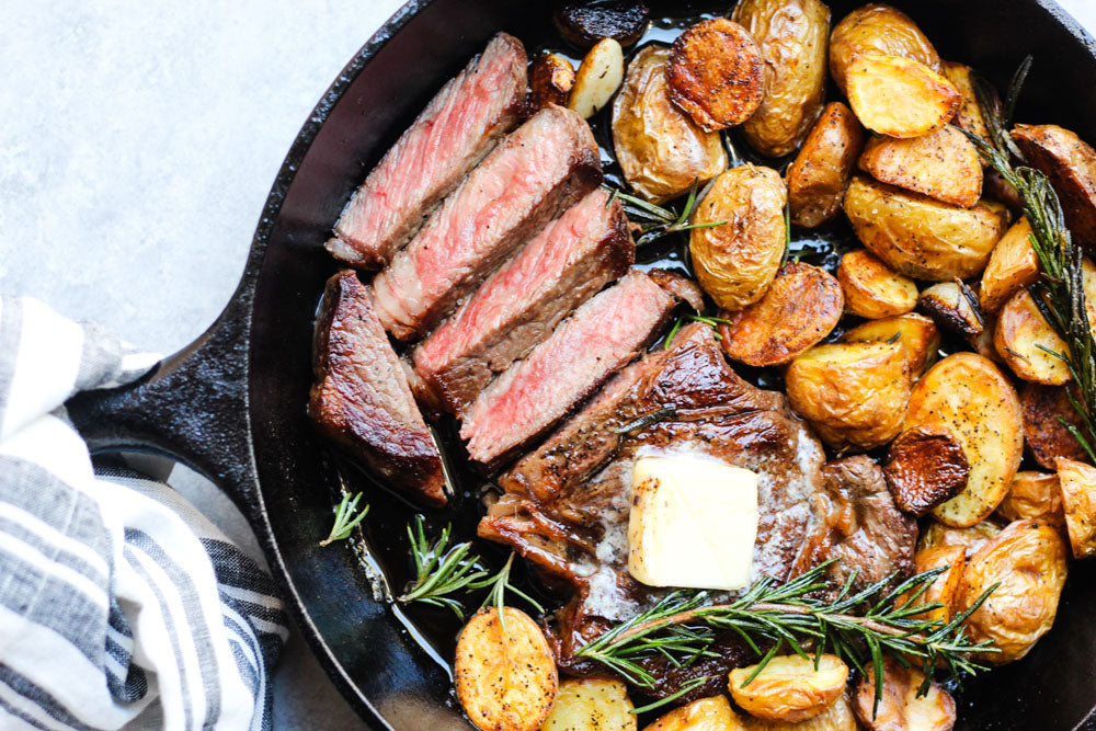 1 Skillet Steak and Potatoes