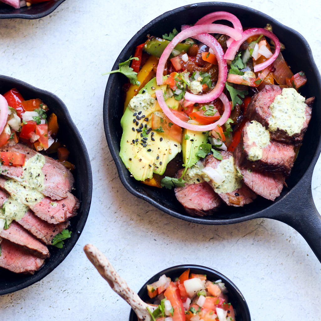 Whole30 Steak Fajitas