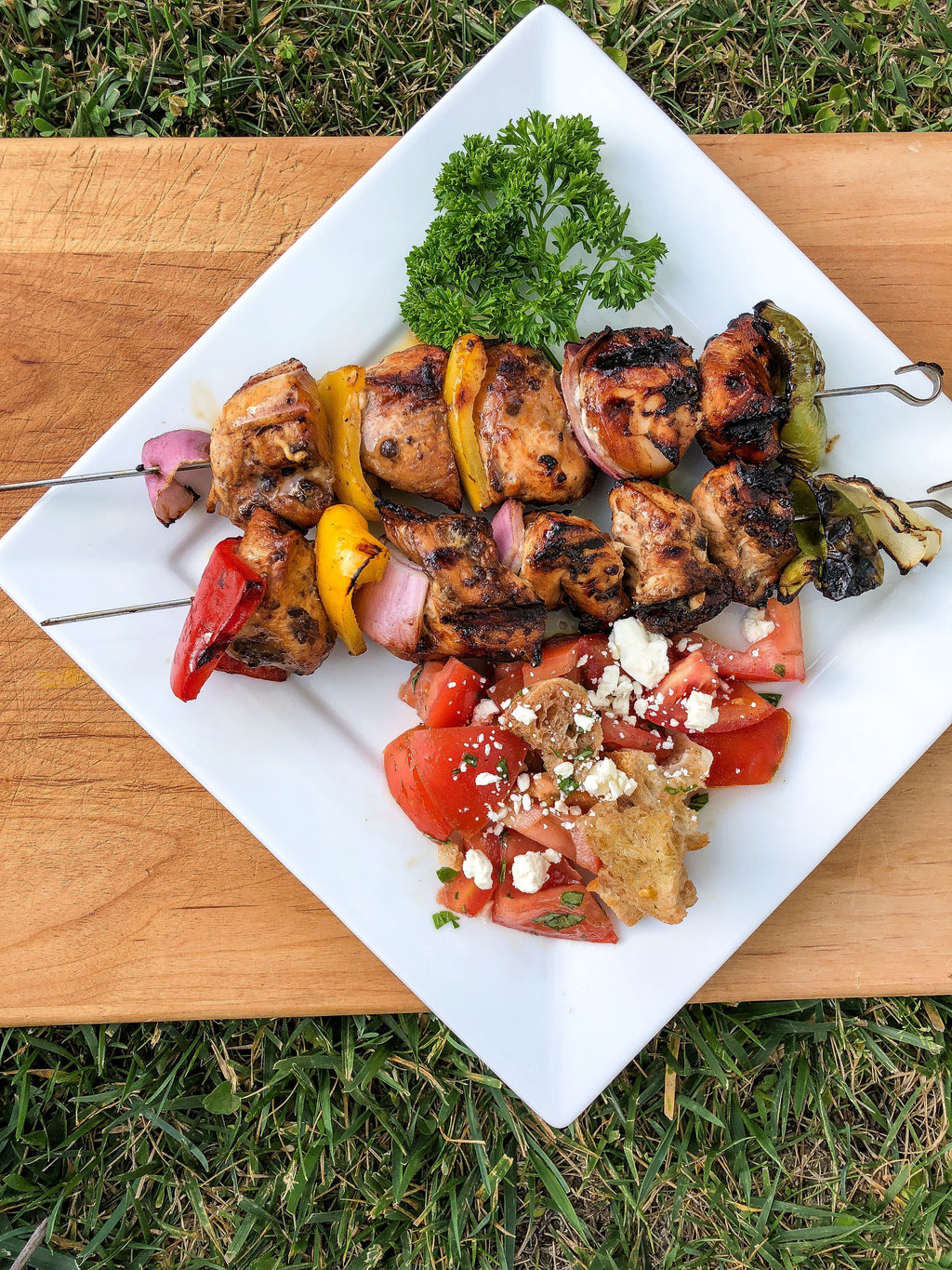 Summer Balsamic Fig Chicken Kebobs