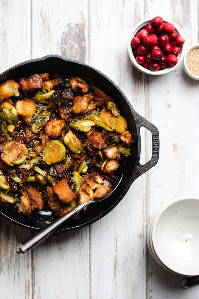 4-Ingredient Thanksgiving Side Dish: Bacon Brussels Sprouts
